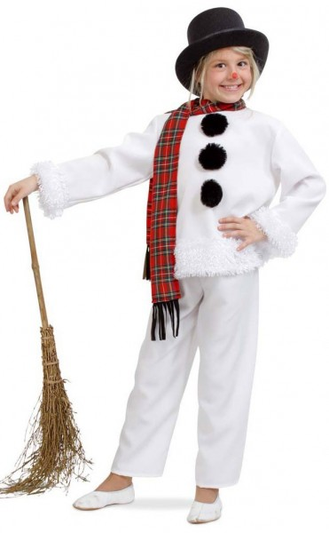 Snowman costume with scarf for children
