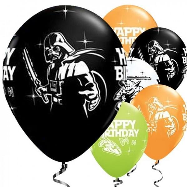 25 Qualatex Star Wars Happy Birthday Latexballons 28cm