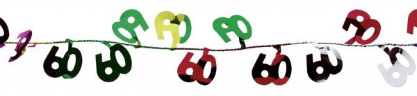 Gefeliciteerd met de 60e verjaardag draadslinger kleurrijk 270 cm