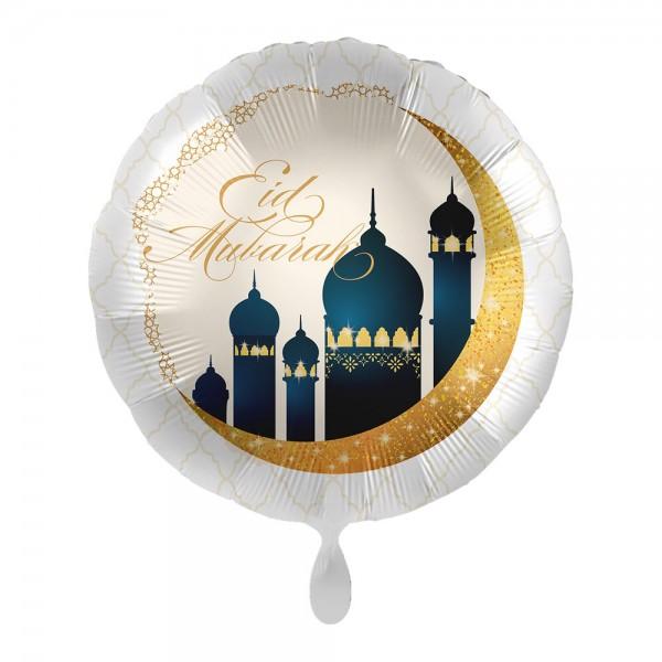 Eid Mubarak Folienballon weiß-gold 43cm