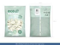 100 Eco metallic Ballons weiß 30cm