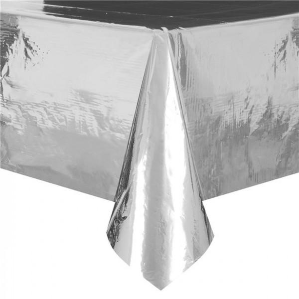 Metallic Tischdecke Basel silber 1,8 x 1,2m