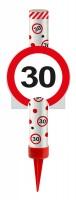 Verkehrsschild 30 Tortenfontäne 12cm