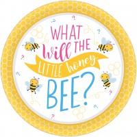 8 Baby Bienen Teller 27cm