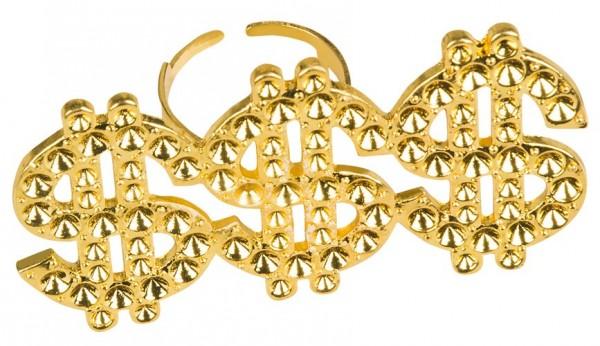 Triple Dollarzeichen Ring In Gold