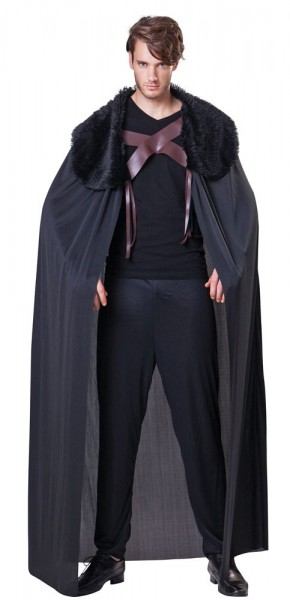 Black nobleman cloak with collar