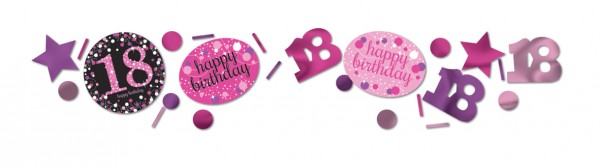 Pink 18th Birthday sprinkle decoration 34g
