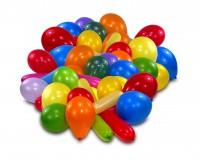 10 bunte Luftballons verschiedene Formen