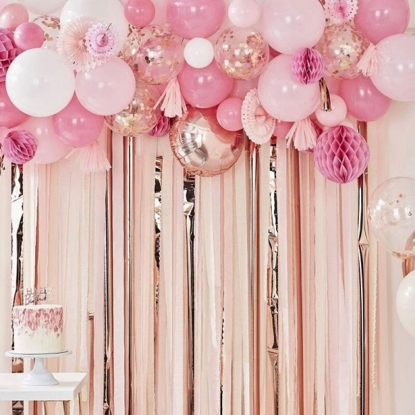 Ballongirlande Deko-Set 94-teilig pink