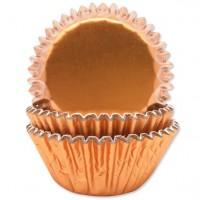45 Metallic Muffinförmchen Rosegold