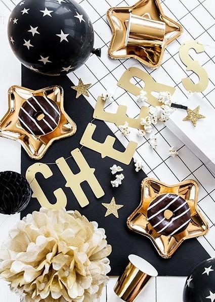 8 étoiles décoratives scintillantes 5cm