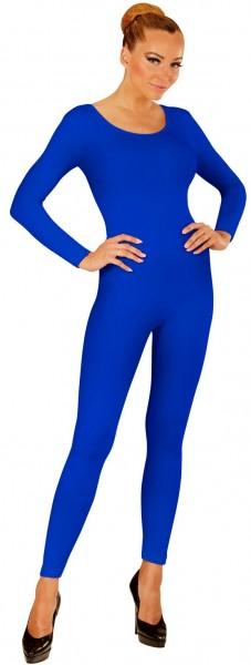 Body de manga larga para mujer azul