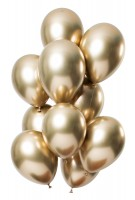 12 Latexballons Spiegel Effect gold