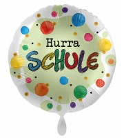 Hurra Schule Satin Folienballon 45cm