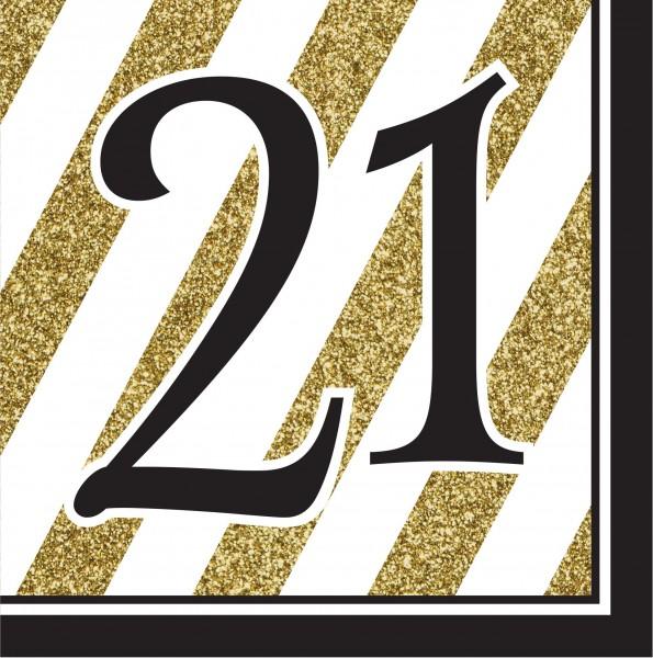 16 Magical 21st Birthday Servietten 33cm