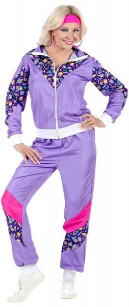 Fresher 80s jogging suit purple for women