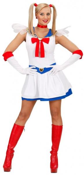 Heldenhaftes Manga Mädchen Kostüm