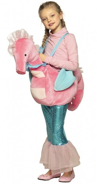 Seahorse Rider zeemeermin kinderkostuum