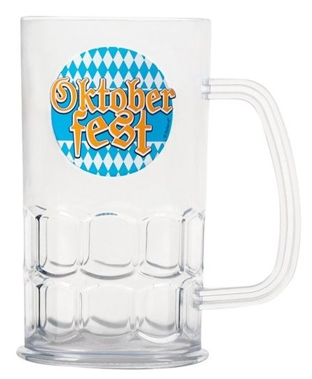 Oktoberfest beer mug made of plastic 0.5l