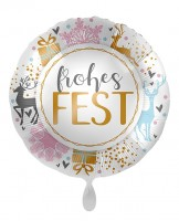 Folienballon Frohes Fest 71cm