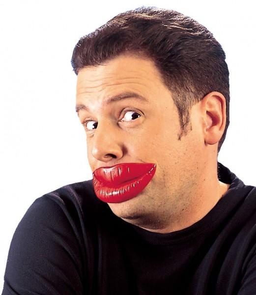 Rote Falsche Lippen