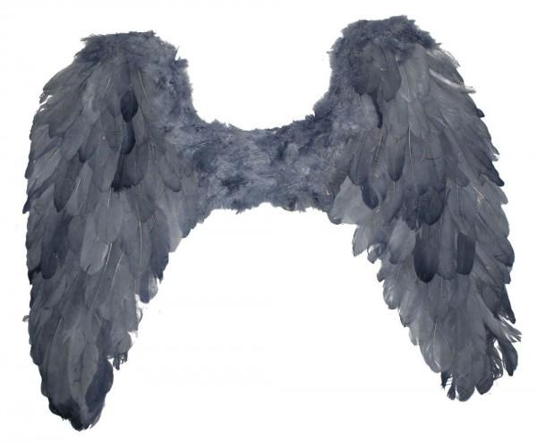 Graue Feder Flügel Todesengel