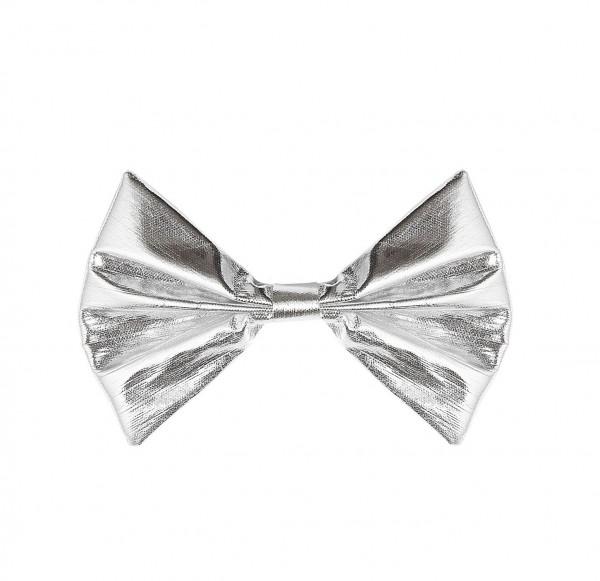 Silber-Metallic Glamour Fliege