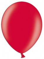10 Partystar metallic Ballons rot 30cm