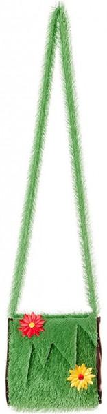 Grüne Blumenwiese Handtasche
