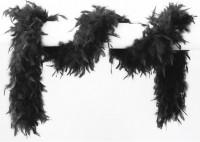 Elegante Schwarze Federboa 180cm