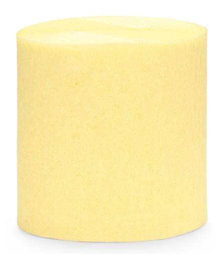 10m crepe paper lemon yellow 4 parts
