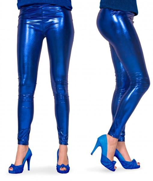 Azula legging in metallic blauw