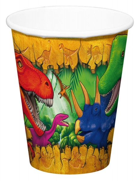 6 gobelets en papier Dino Adventure 200ml