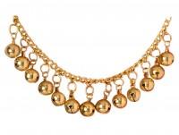 Bracelet de cheville doré avec cloches