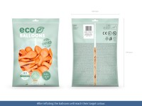 100 Eco Pastell Ballons pfirsich 26cm