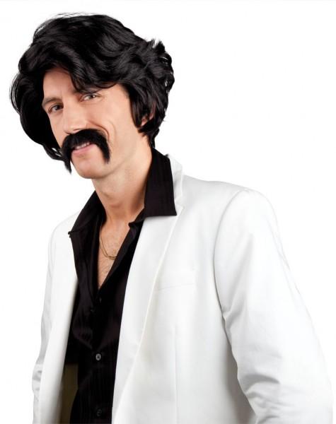 Peruka Porno King 70 z wąsami