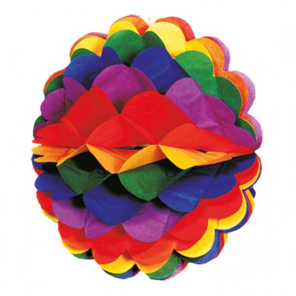 Magical Rainbow honingraat bal hangende decoratie kleurrijk 28cm