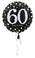 Golden 60th Birthday Folienballon 43cm