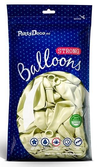 20 Partystar metallic Ballons creme 27cm