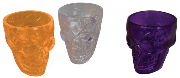 Skull Drinking Shot Glasses Set of 3