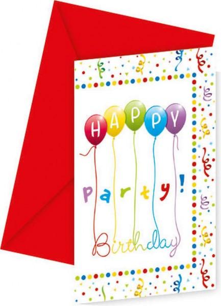 6 Partywahnsinn Einladungskarten