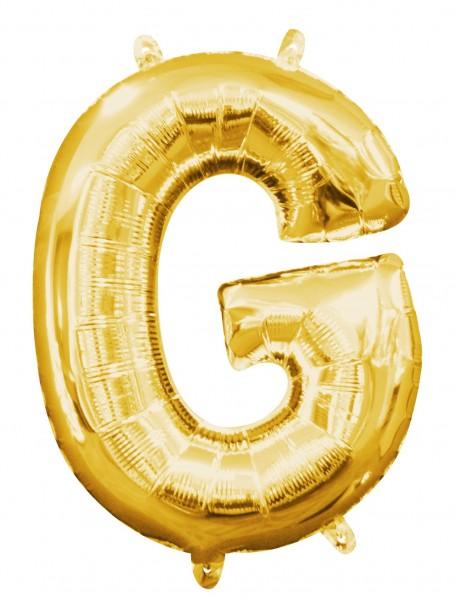 Mini Folienballon Buchstabe G gold 35cm