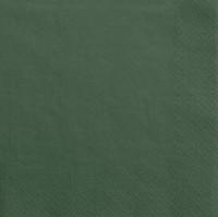 20 Servietten Scarlett dunkelgrün 33cm