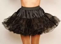 Schwarzer Drahtkanten Petticoat Mina