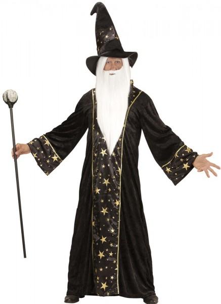 Zauberer Albrich Herrenrobe Mit Hut 1