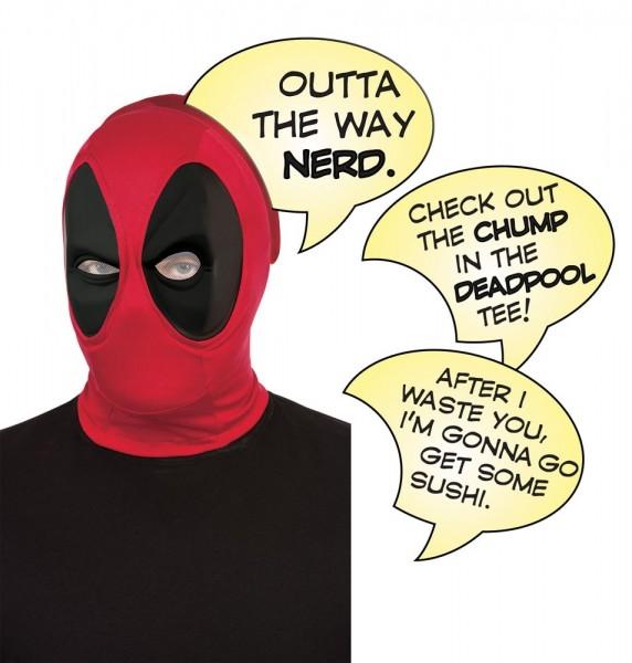 Deadpool Maske Mit 3 Sprechblasen