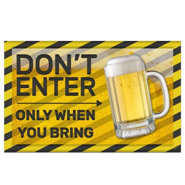 Beer Festival 3D-muurschildering Niet betreden