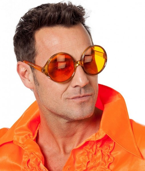 Herren 70er Jahre Brille Orange 1