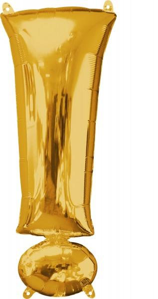 Folenballon Ausrufezeichen ! in Gold 38 x 91cm