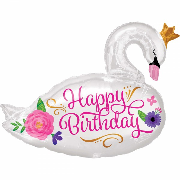 Swan princess foil balloon